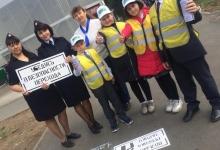 Трафарет и баллончики против наездов на дорогах