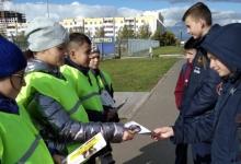 В Татарстане световозвращающий патруль ЮИД «оживил» пешеходные переходы с помощью ярких плакатов