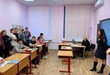 Сотрудники дорожно-патрульной службы посетили коррекционную школу города Москвы.