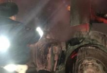 В Татарстане сотрудники ГИБДД потушили загоревшийся автомобиль