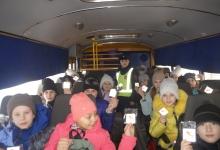Обучающая поездка для ульяновских пассажиров состоялась в салонах школьных автобусов