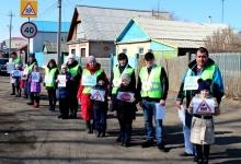 Пространственные композиции «Родительского патруля» на забайкальских дорогах призывают автолюбителей обеспечить безопасность детей