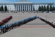 «Живой хештег» школьников, призывающий сохранить детские жизни на дорогах, установил новый рекорд России