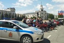 В Железногорске Госавтоинспекторы и байкеры провели совместную акцию «Взаимная вежливость ради безопасности»