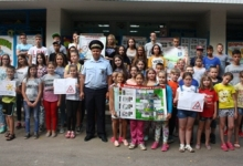Сотрудники Госавтоинспекции МО МВД России «Рославльский» посетили детский лагерь «Прудок»
