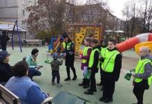 Пушкинские автоинспекторы напомнили жителям Красноармейска о дорожной безопасности