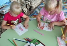 В детских садах Балахтинского района прошла акция «Я рисую ПДД»