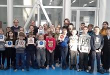 В Гусеве Сотрудники ГИБДД и ПДН провели профилактическое занятие с детьми, посещающими спортивную секцию