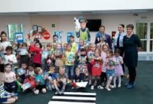 Для дошкольников города Углегорска ЮИДовцы провели спортивное мероприятие по ПДД