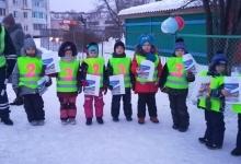 В Зеленогорске госавтоинспекторы и их юные помощники провели акцию ко Дню защитника Отечества
