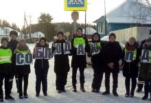Томские первоклассники вступили в «Общество заметных пешеходов»