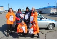 В Новосибирской области автоинспекторы вместе с молодежными активистами провели профилактическую акцию «Автокресло – детям!»