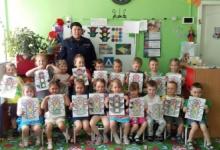 Анивские госавтоинспекторы встретились дошкольниками