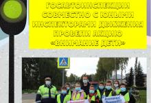 На Ваду сотрудники Госавтоинспекции совместно с юными инспекторами движения провели акцию «Внимание Дети»