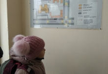 У нас в школе повесили обновленую схему безопасного маршрута до школы