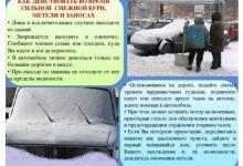 В связи с обильными снегопадами МЧС рекомендует придерживаться определенных правил поведения в непогоду