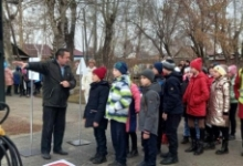 В одном из районов Красноярского края состоялось открытие детского мобильного автогородка