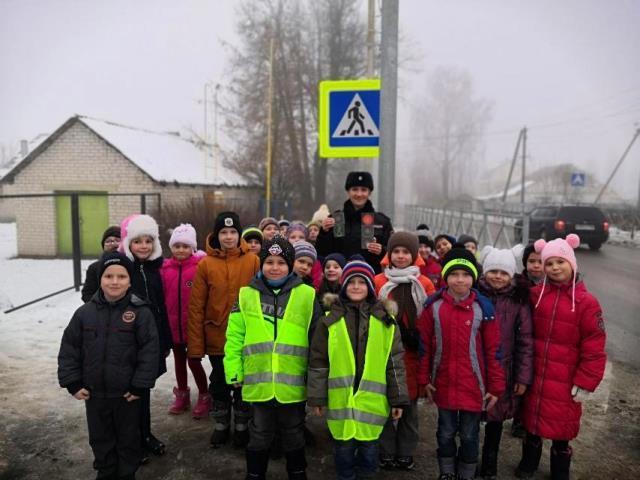 Дорожные полицейские Смоленского района провели акцию «Будь примерным, пешеход!»