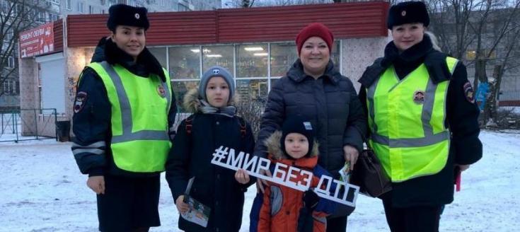 В Московской области автоинспекторы напомнили пешеходам о дорожной безопасности