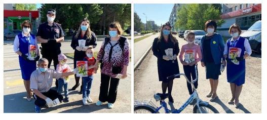 Акция  в Альметьевске «Внимание на дорогу!