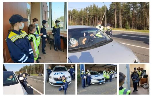 Автолюбителей в Луге сегодня тормозили школьники. Пришлось предъявлять документики