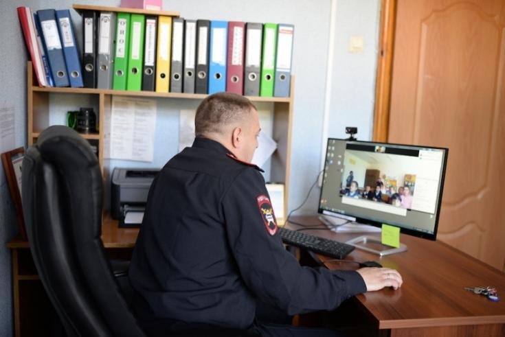 В Самарской области полицейские провели онлайн-урок по правилам дорожного движения